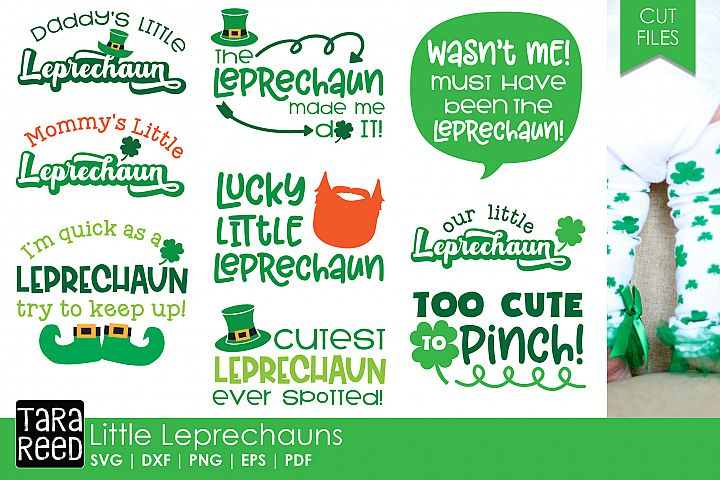 Lucky Little Leprechaun - St Patricks Day SVG and Cut Files
