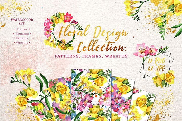 Floral Design collection watercolor png
