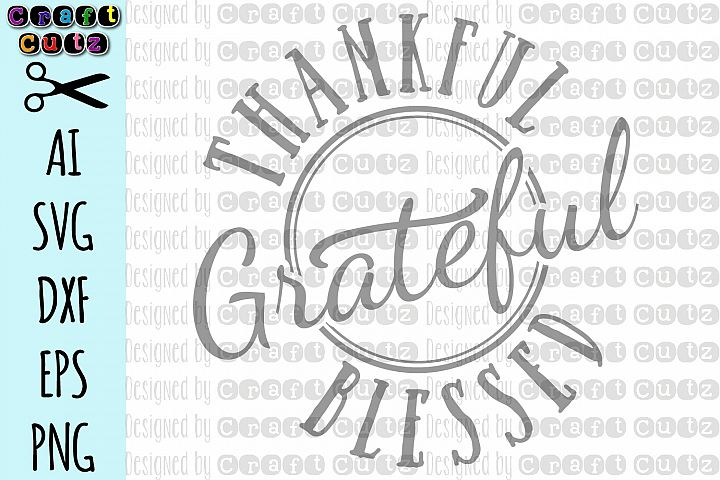 Thanksgiving Maternity SVG, Thankful Grateful Blessed SVG