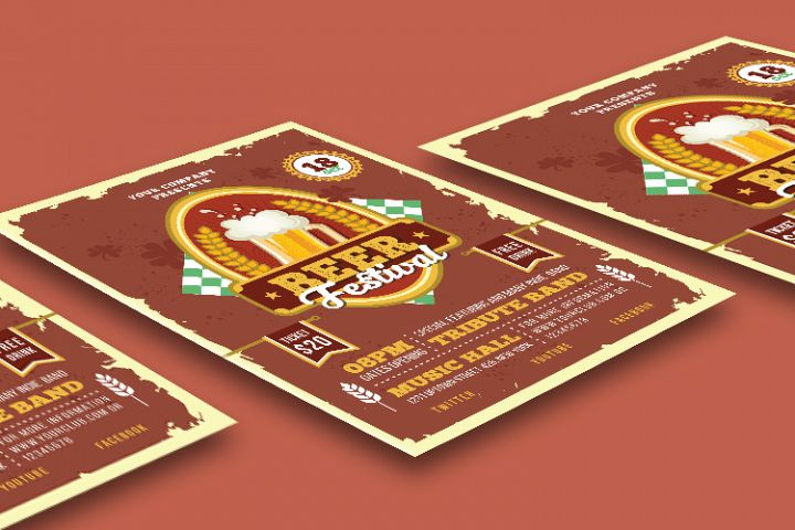 BEER FESTIVAL FLYER OR POSTER example image 3