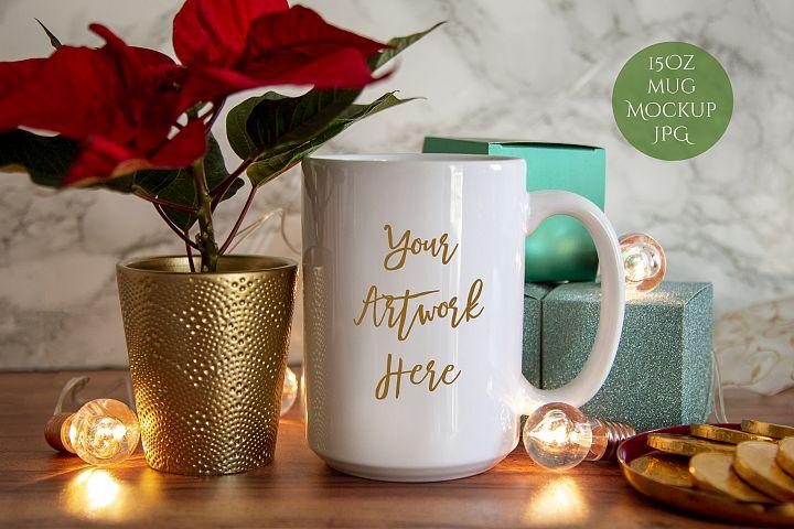 15oz Mug Mockup-christmas