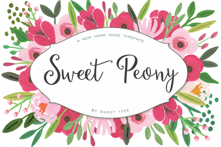 Sweet Peony Hand Lettered Script example image 1