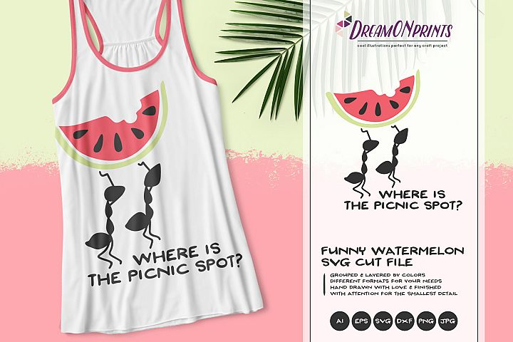 Ants on Picnic | Funny Summer SVG | Watermelon