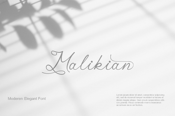 Malikian Script Font