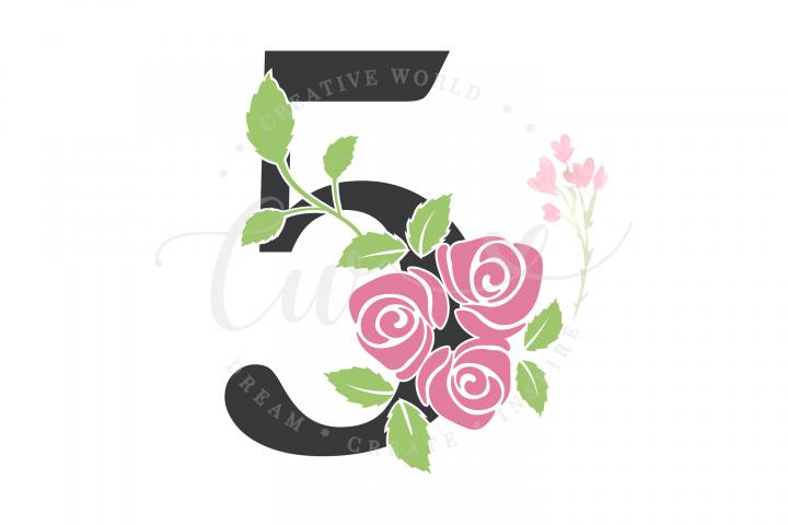 My 5th Birthday Rose Flower SVG | Birthday Girl svg