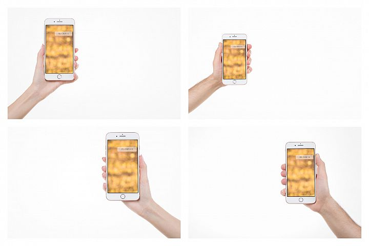 Set of 4 iPhone 8 plus mockups