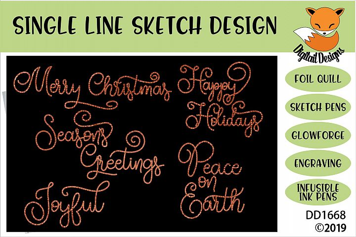 Foil Quill Christmas Greetings Bundle