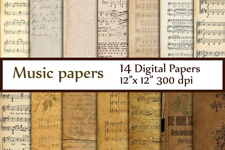 Antique Music Digital Papers