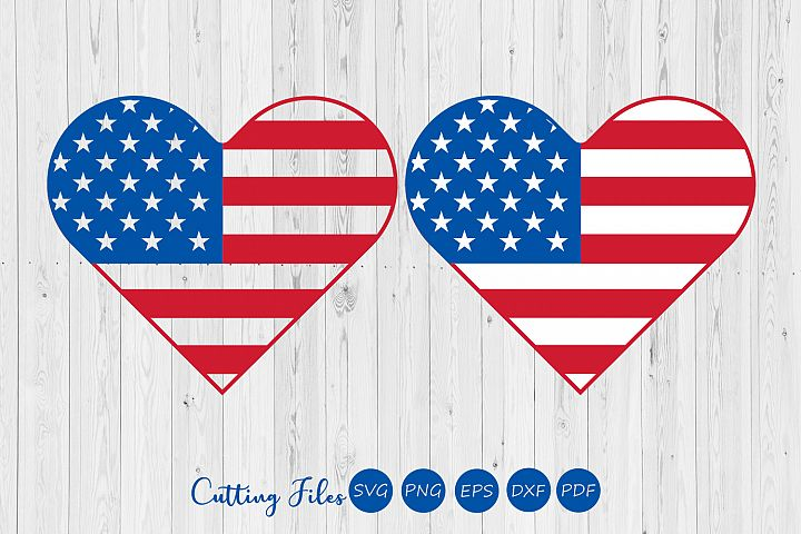 American Heat Flag | Patriotic | 4th of July | Cutting files