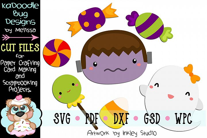 Ghostly Sweet Treats Cut File - SVG PDF DXF GSD WPC