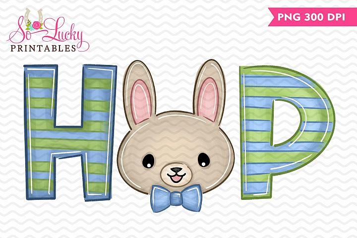 Hop Boy Easter Bunny printable sublimation design
