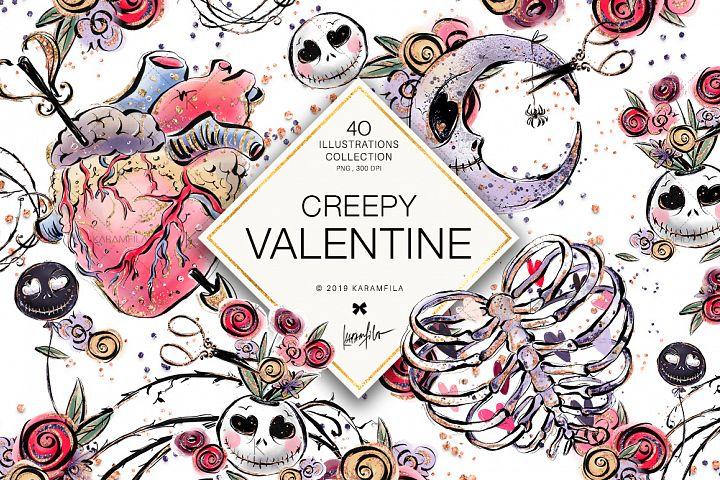 Creepy Valentines Day Clipart