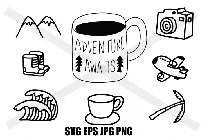 Adventure Set 1 - SVG EPS JPG PNG