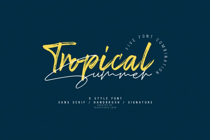 Tropical Summer // Font Combination
