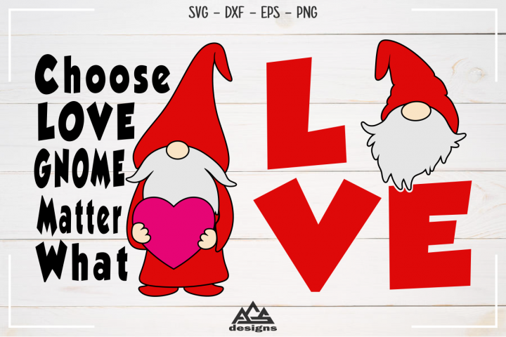 Love GNOME Valentine Svg Design