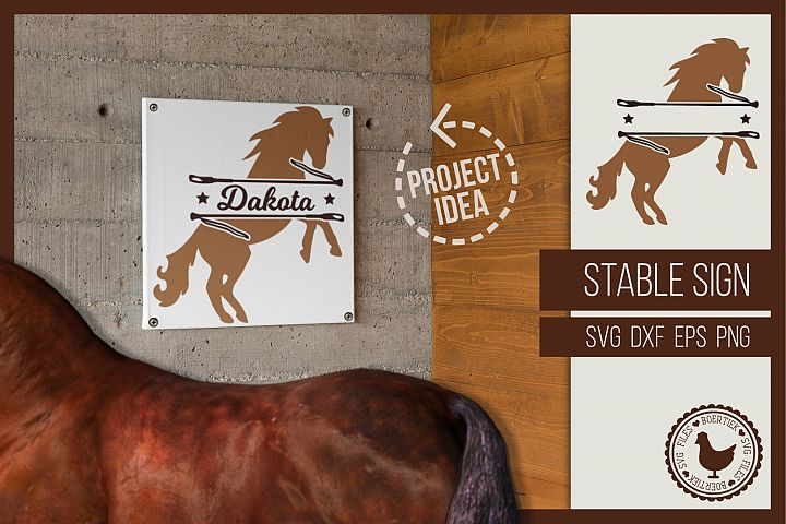 Stable sign, enter the name of your horse, SVG cutting file