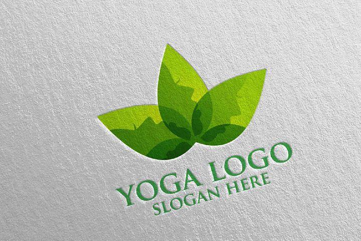 Yoga and Spa Lotus Flower logo 2