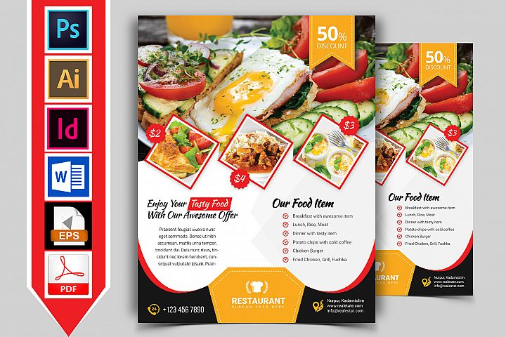 Restaurant Flyer. Vol-02