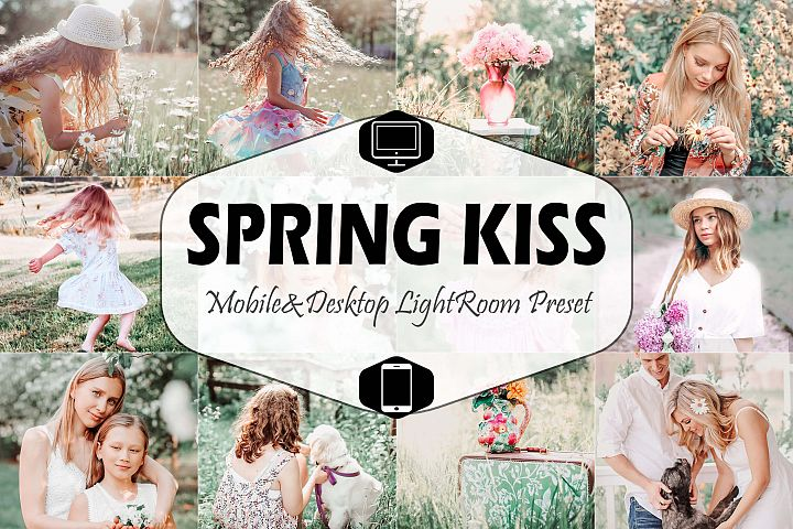 10 Spring Kiss Mobile & Desktop Lightroom Presets, pastel LR