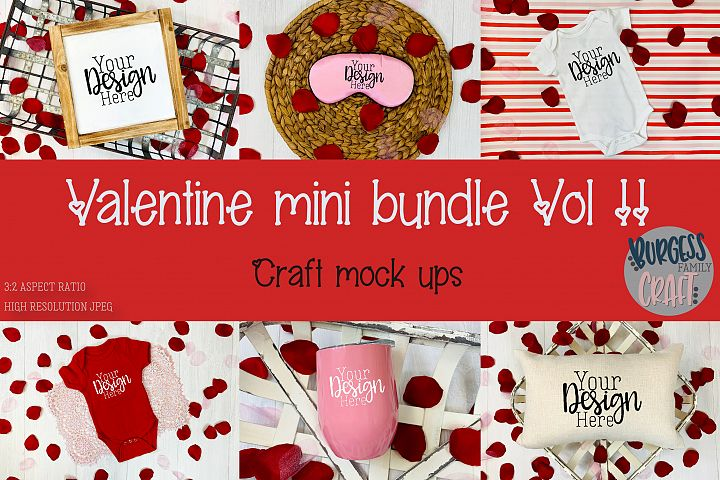 Valentine Mini Bundle Vol II | Craft mock ups