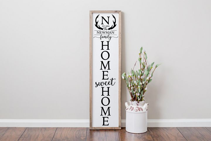 Family Name Front Porch Sign SVG - Home Sweet Home SVG