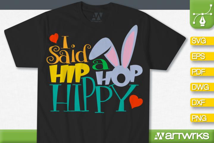 Easter bunny SVG files for Cricut | I said a Hip hop a happy