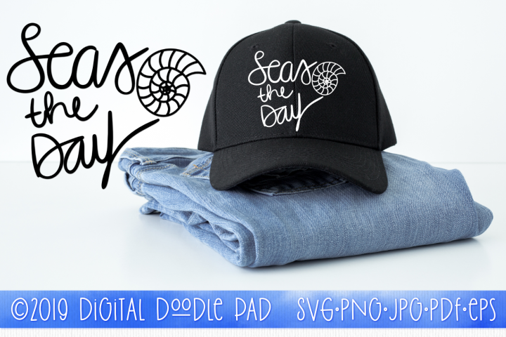 Seas The Day | Summer SVG Cut File for Silhouette & Cricut