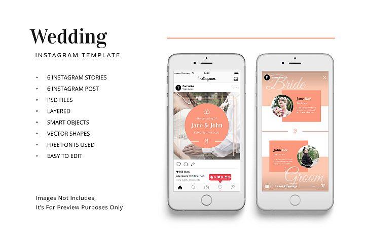 Wedding Instagram Kit Template