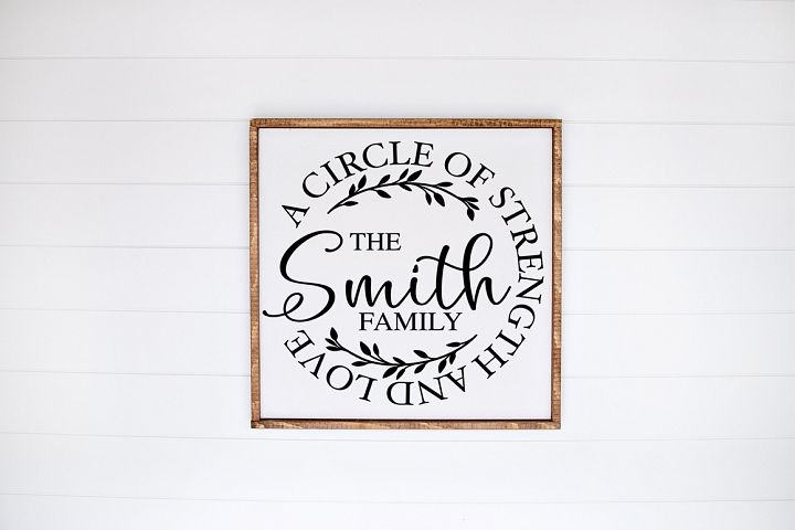 Customizable Family Last Name SVG - A Circle Of Strength