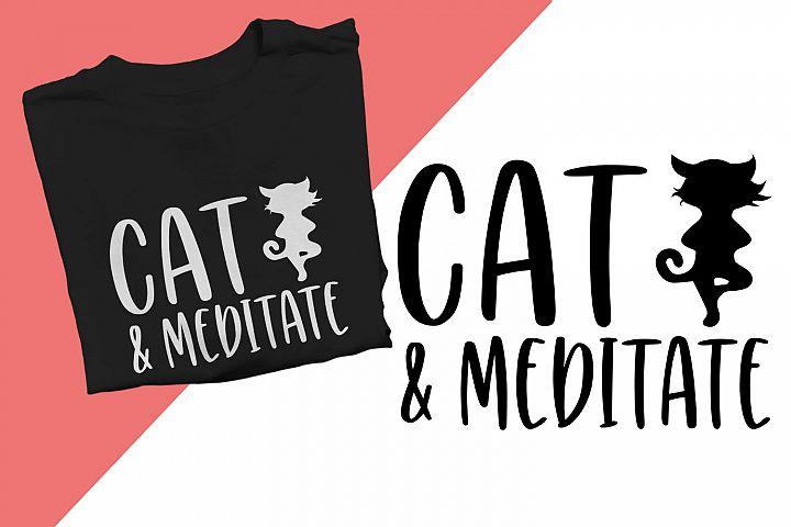 Cat & Meditate Printable
