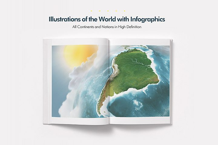 Illustrations of the World with Infographics