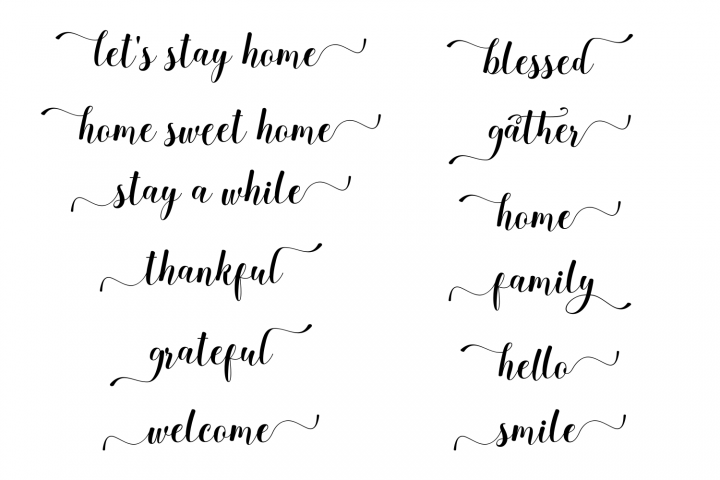 Wooden Words SVG Sayings SVG Quotes SVG Wall Decor SVG