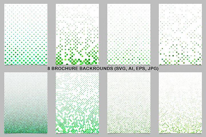 8 Green Brochure Backrounds