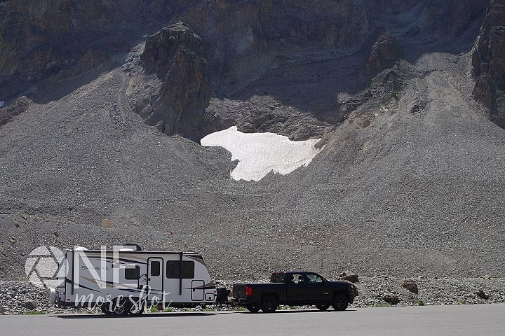 Yellowstone National Park Camper Snow - Western USA Photo