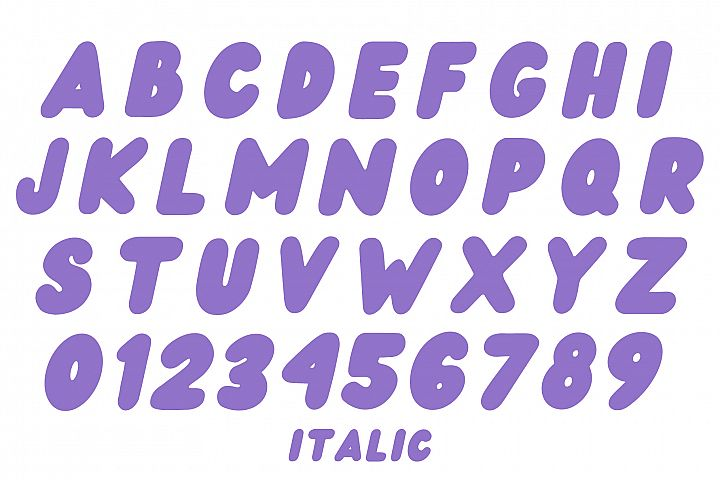 Wedges - Fun Rounded Weight Font example image 8