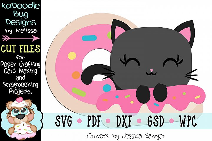 Donut Kitty Cut File - SVG PDF DXF GSD
