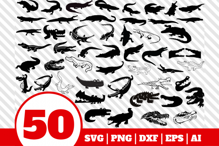 50 Crocodile bundle svg - Alligator svg - Crocodile vector