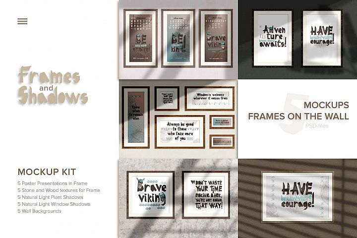 5 MockUps Poster Presentations in Frame