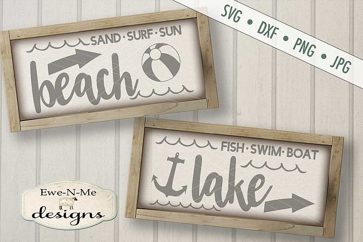 Beach Lake Nautical SVG DXF Files