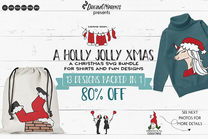 Holly Jolly Xmas | Funny Christmas SVG Bundle