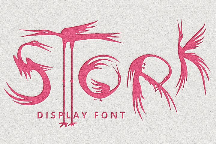 Stork font