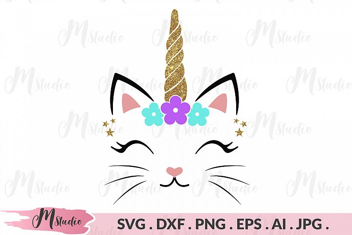 Glitter unicorn head Svg