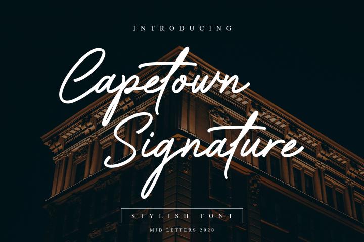 Capetown Signature- Elegant Font