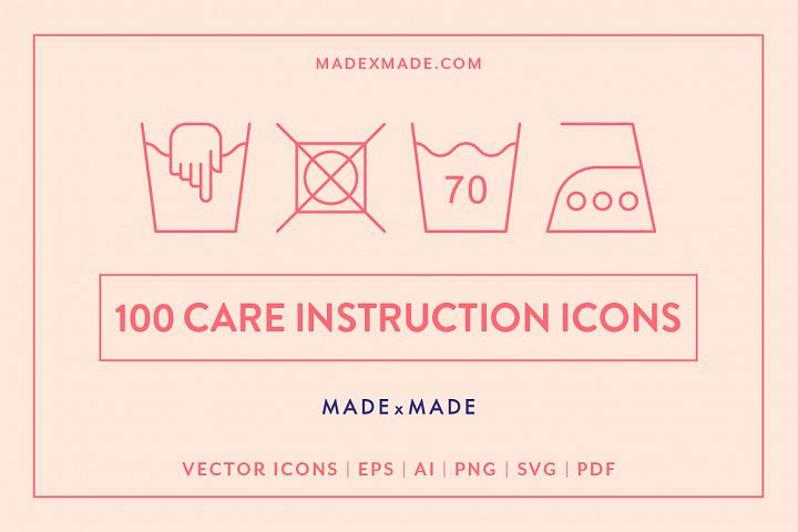 Line Icons - Care Instructions