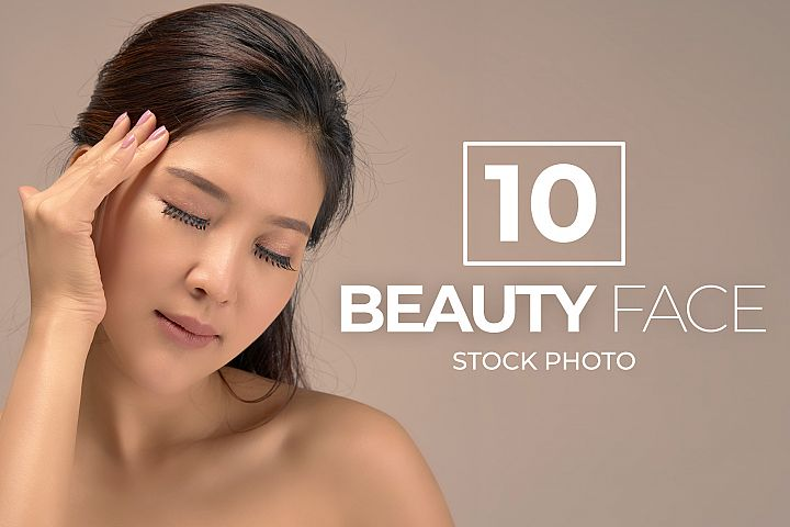 10 Asian Woman Beauty Face Bundle