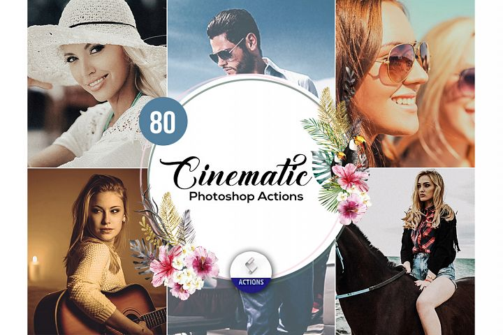 80 Cinematic Photoshop Actions