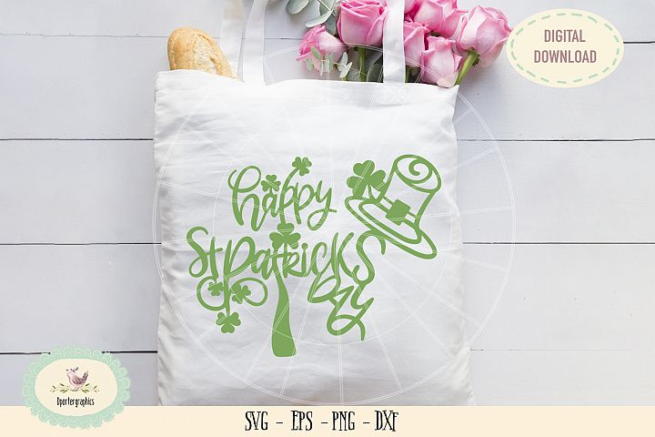 Happy St Patricks day paper cut SVG PNG
