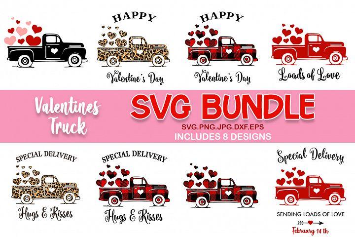 Valentines day truck svg bundle, Valentines day svg
