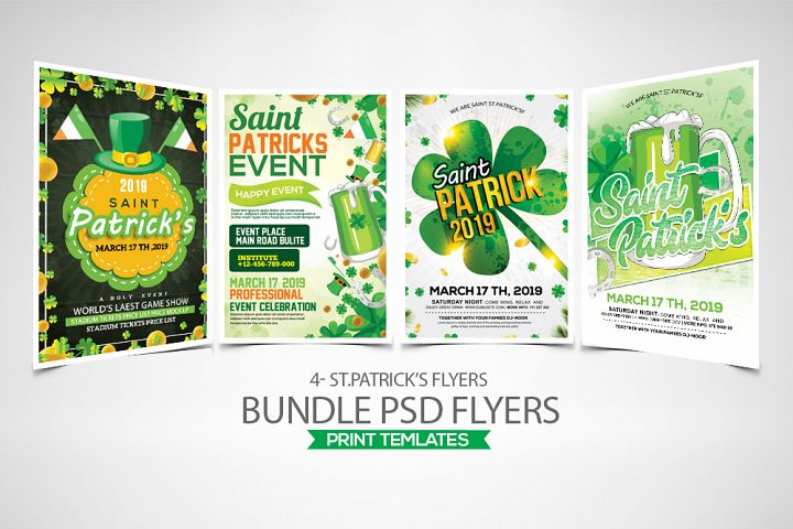 4 St. Patrick Flyers Bundle