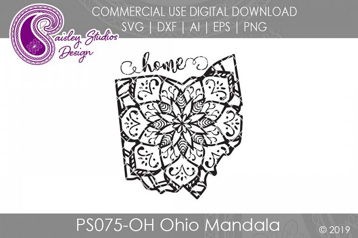 Mandala Ohio Home SVG DXF Ai EPS PNG